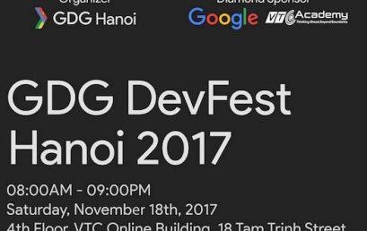VTC Academy đồng hành cùng GDG DevFest Hanoi 2017