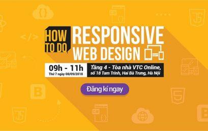 Hội thảo Responsive Web Design tổ chức ngày 08/09/2018