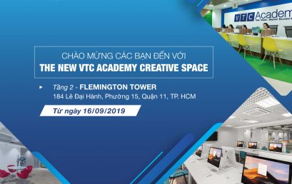VTC Academy Ho Chi Minh City moved to a new location since September 16th, 2019