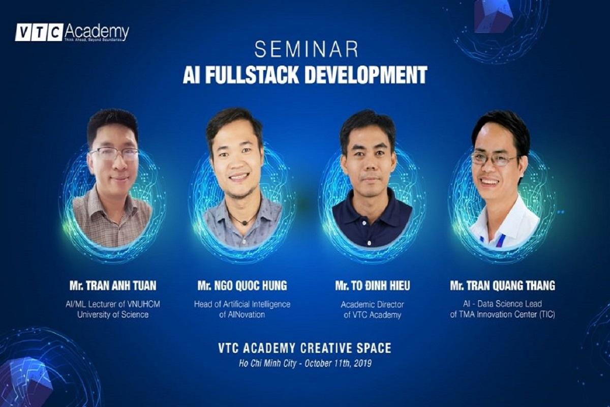 VTC Academy tặng 03 suất tham gia khóa học AI quốc tế