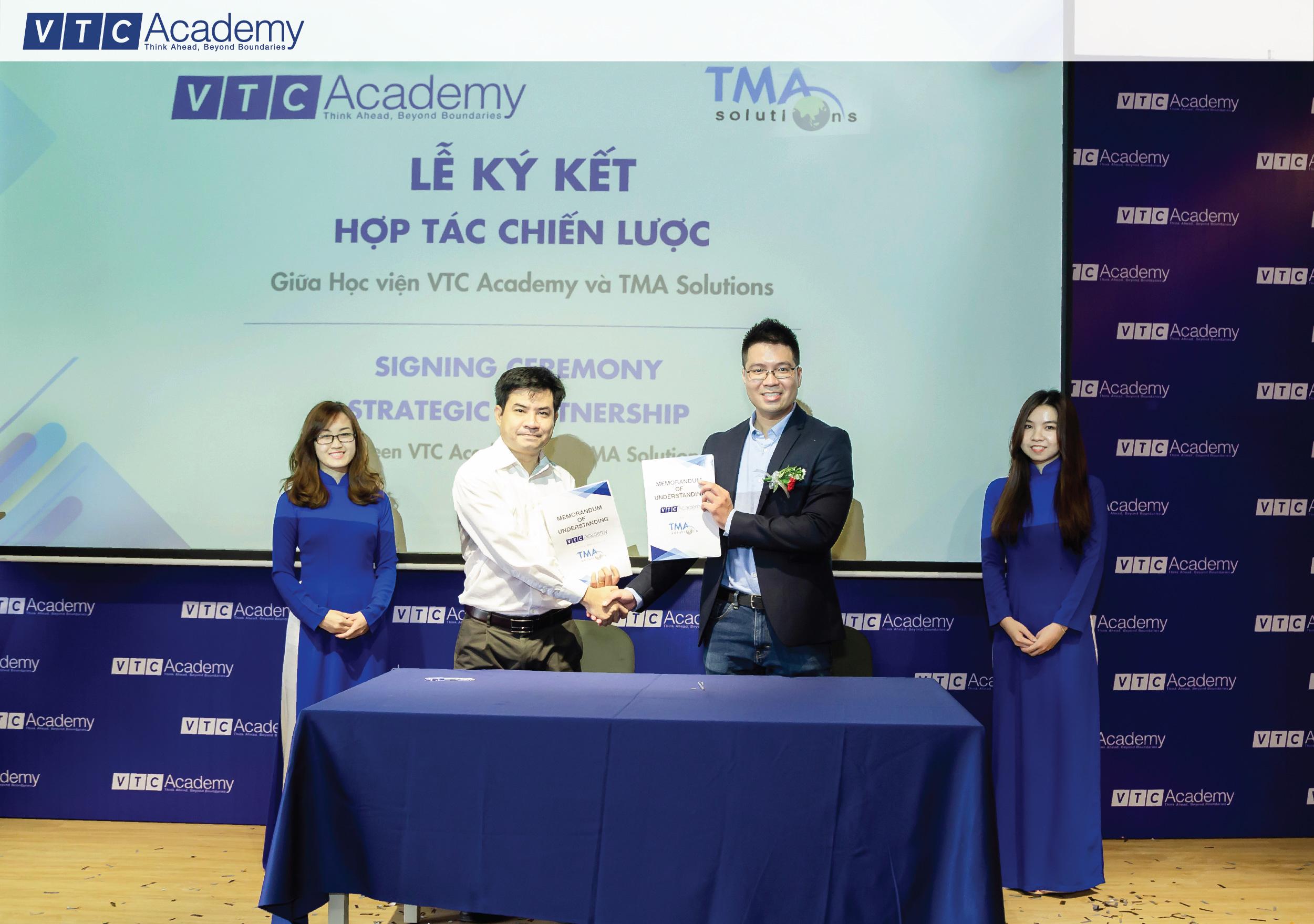 VTC Academy ký thỏa thuận hợp tác chiến lược cùng TMA Solutions