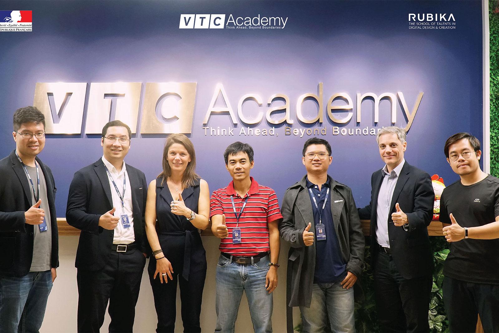 VTC Academy vinh dự đón đại diện Đại sứ quán Pháp & Rubika