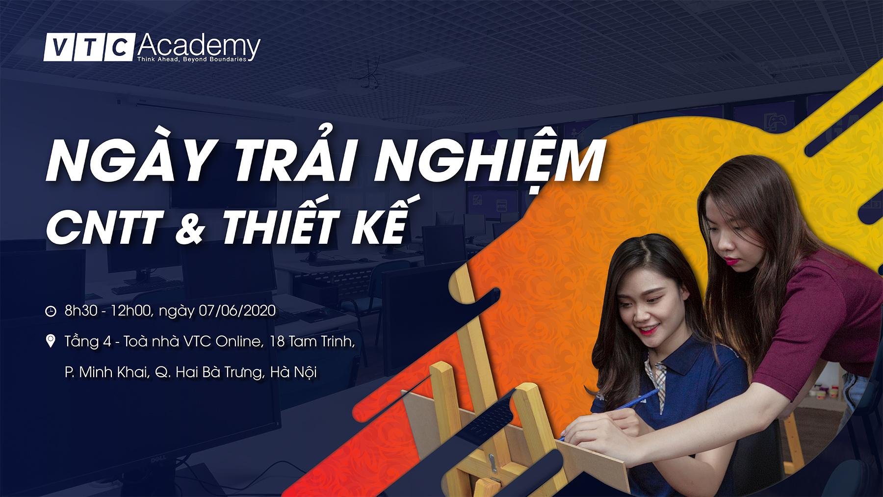 """VTC Academy tổ chức """"Ngày trải nghiệm Công nghệ thông tin và Thiết kế 2020"""" tại Hà Nội"""