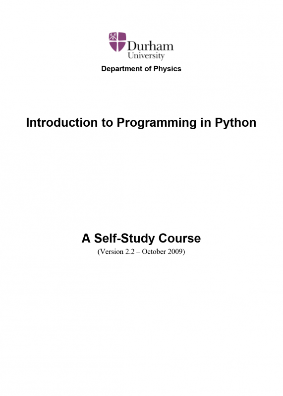Introdution to programming in Python