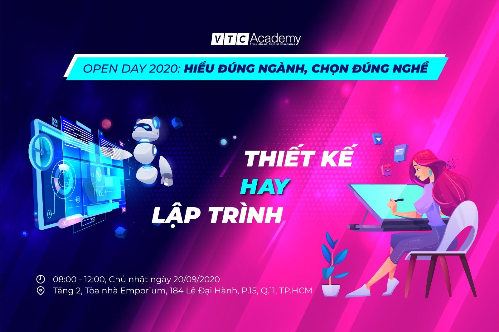 """Sự kiện """"Open Day 2020: Hiểu đúng ngành, Chọn đúng nghề"""" tại TP.HCM"""