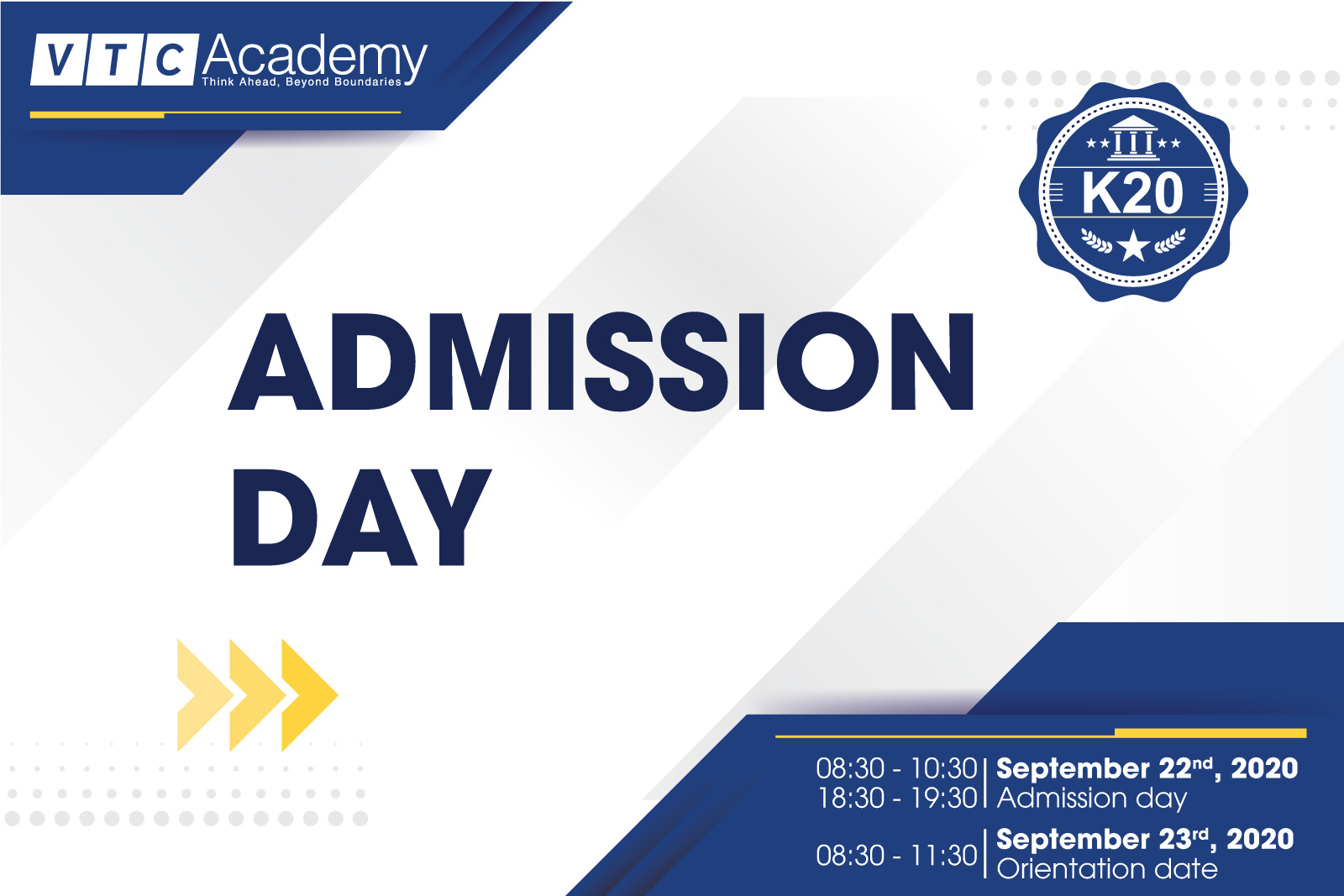"Event ""Admission Day 2020"" in HCMC"