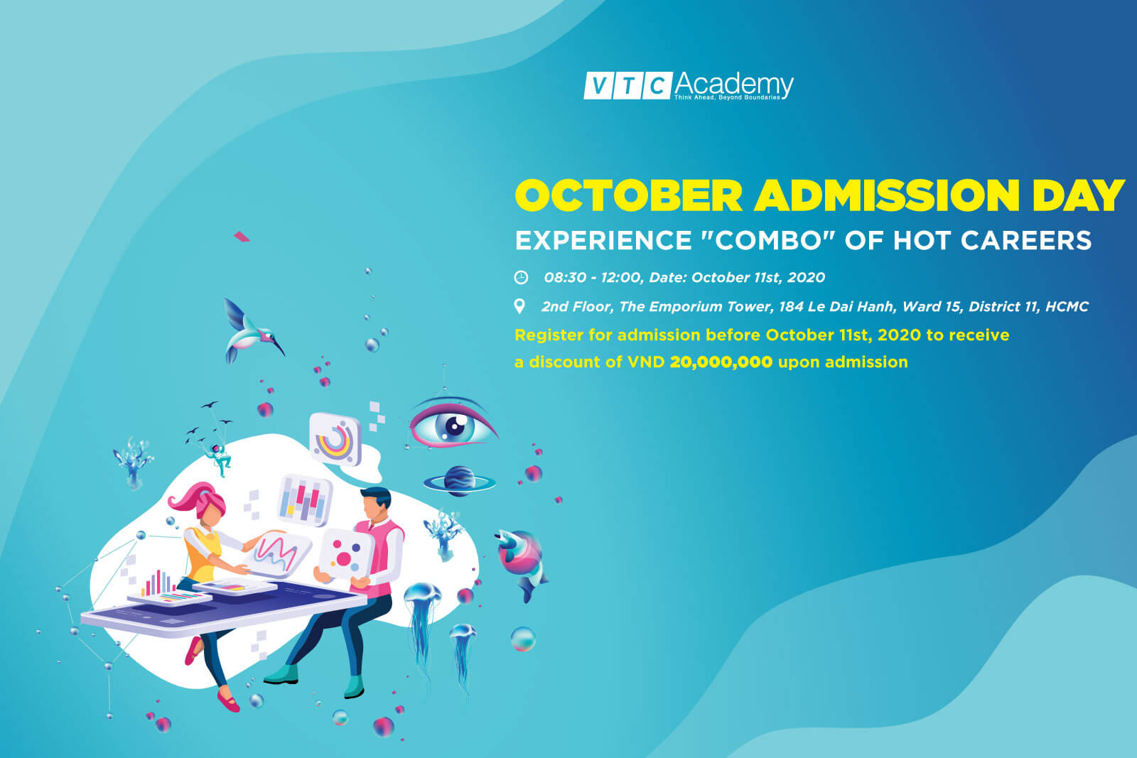 "Event ""October 2020 Admission Day"" at VTC Academy HCMC"