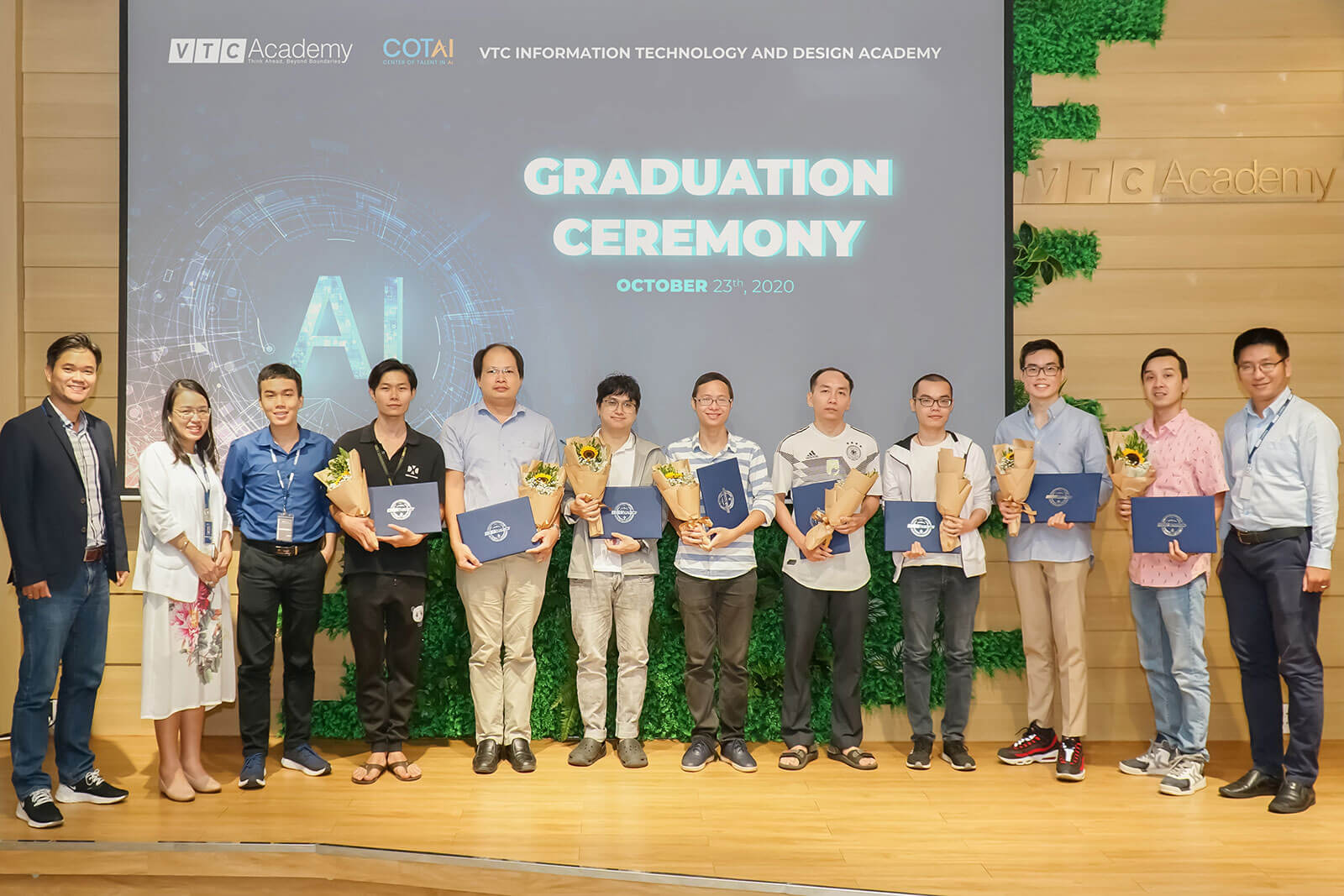 VTC Academy tổ chức lễ tốt nghiệp lớp AI Practitioner và lớp AI Specialist tại TP.HCM