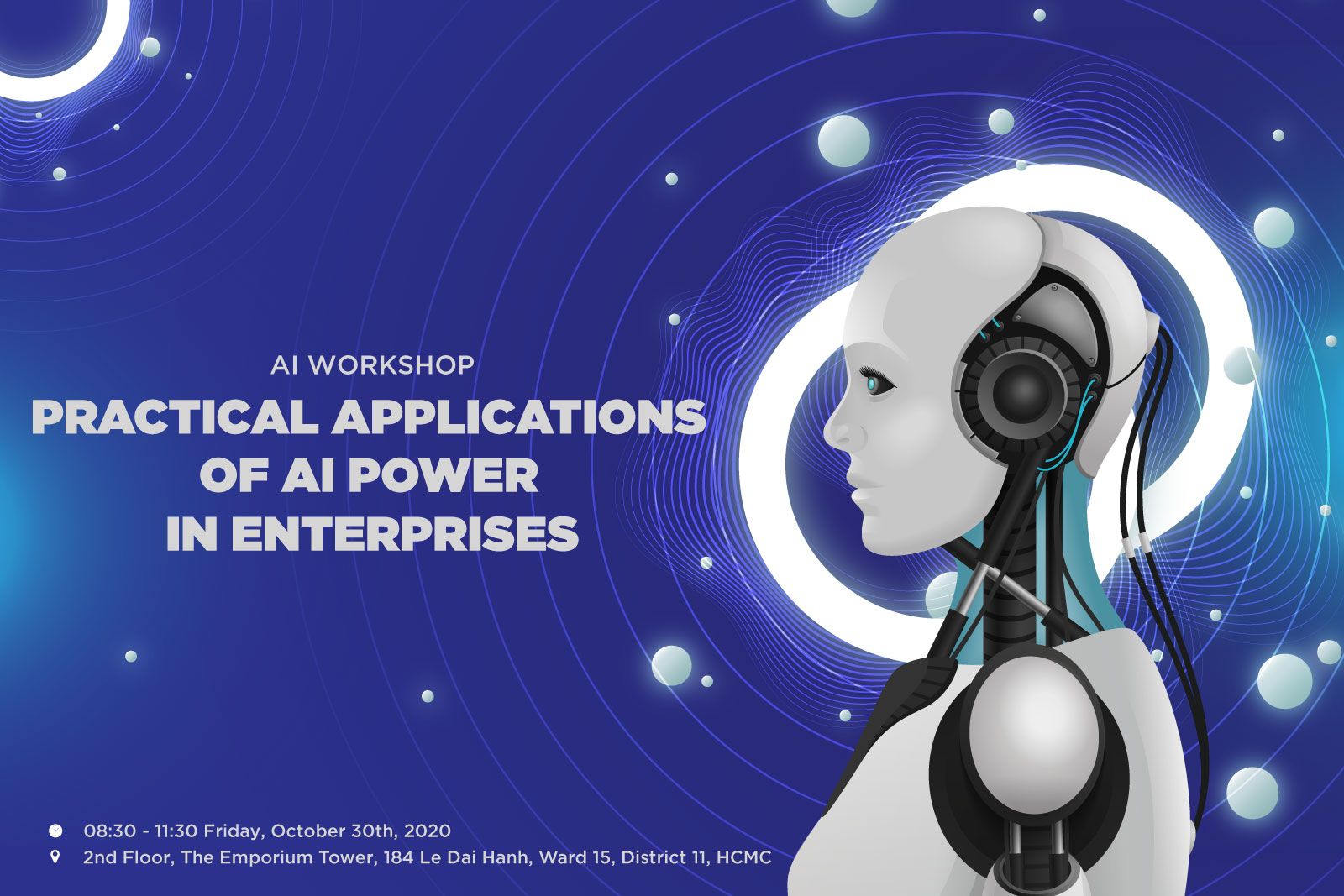 "AI Workshop ""Practical application of AI power in enterprises"" in HCMC"