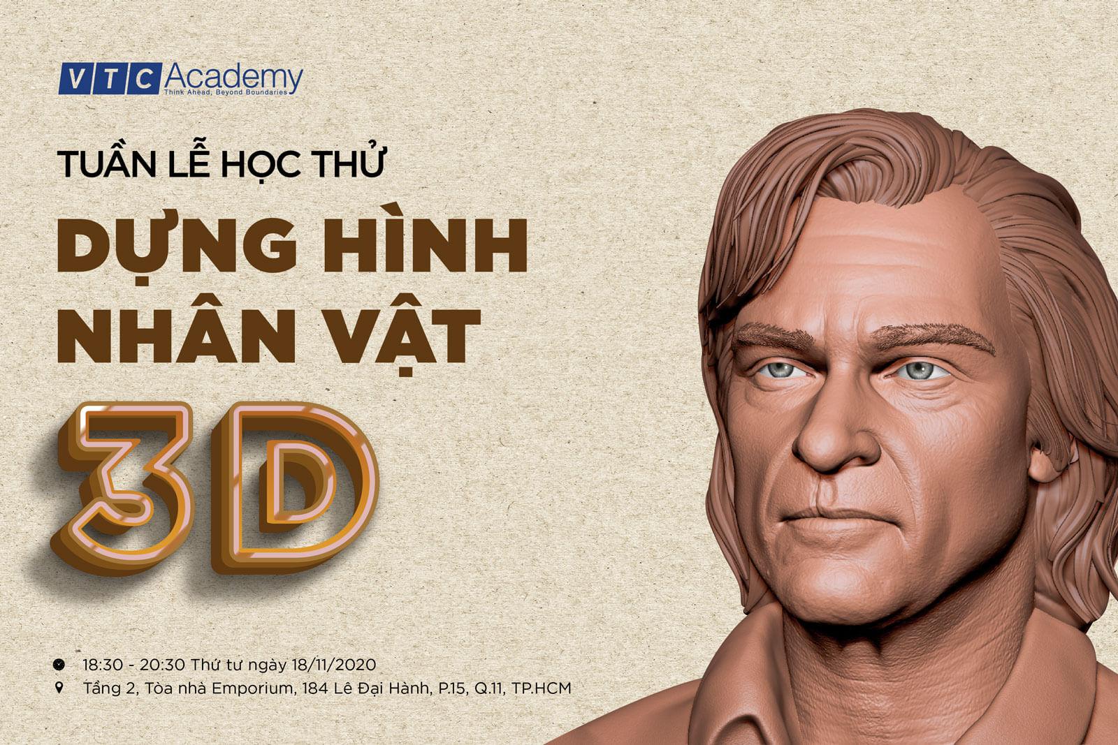 Tuần lễ Học thử Dựng hình Nhân vật 3D tại TP.HCM