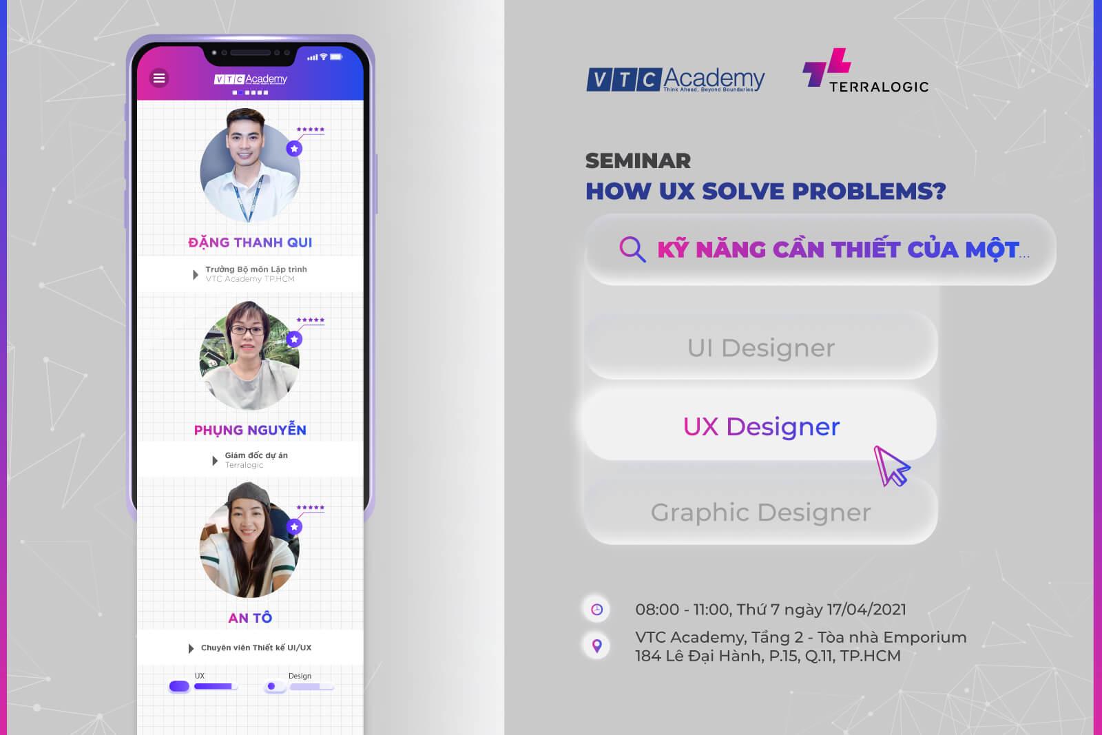 "Hội thảo ""How UX solve problems?"" tại TP.HCM"