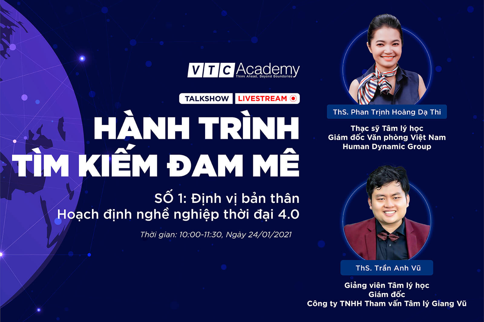 """VTC Academy khởi động chuỗi talkshow trực tuyến """"Hành trình tìm kiếm đam mê"""" và """"Chuyện người trong nghề"""""""