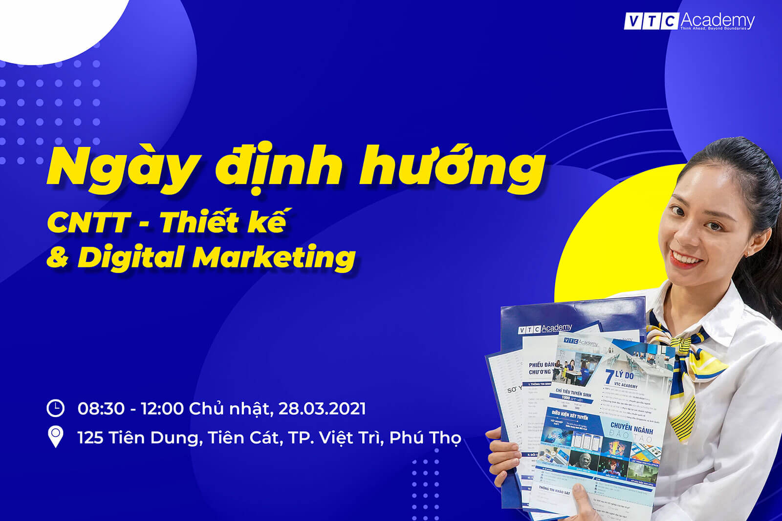 """Coffee Talk """"Định hướng ngành: Công nghệ thông tin, Thiết kế & Digital Marketing"""" tại Phú Thọ"""