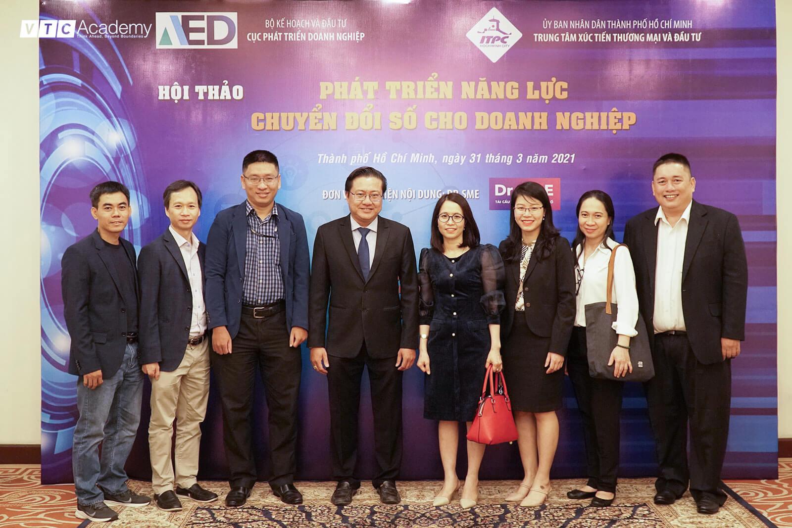 """VTC Academy tham dự hội thảo """"Phát triển năng lực chuyển đổi số cho doanh nghiệp"""""""