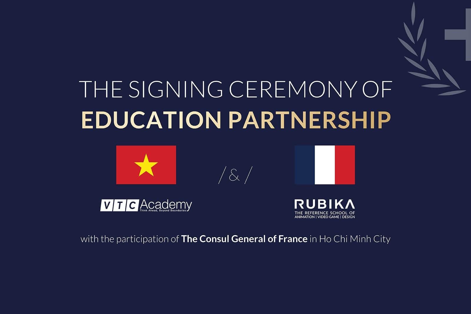 Lễ ký kết hợp tác giáo dục giữa VTC Academy và RUBIKA (Pháp)