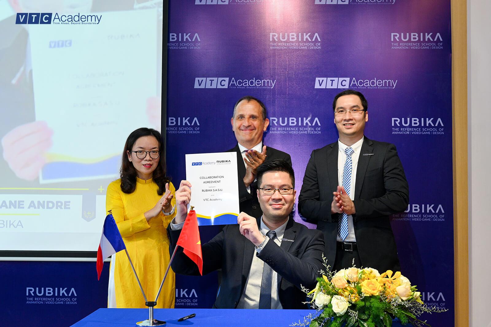 VTC Academy ký kết thỏa thuận hợp tác giáo dục cùng Viện Thiết kế quốc tế RUBIKA (Pháp)