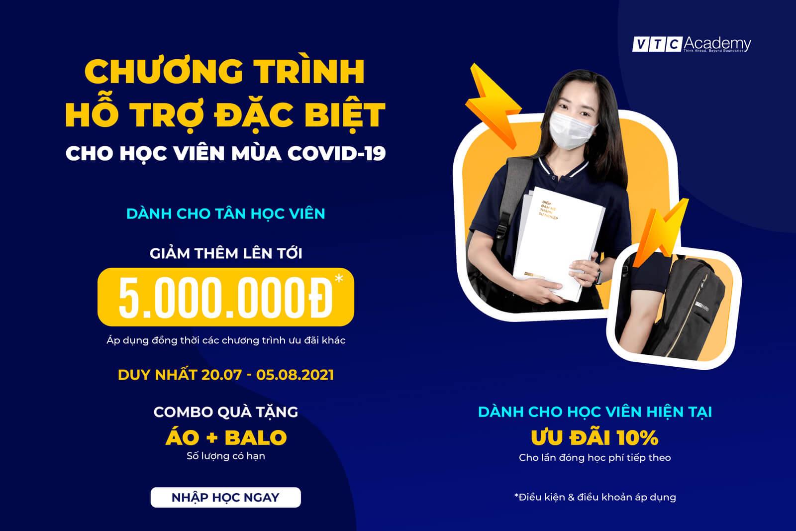 VTC Academy ra mắt chương trình ưu đãi hỗ trợ đặc biệt dành cho học viên vượt qua mùa Covid-19